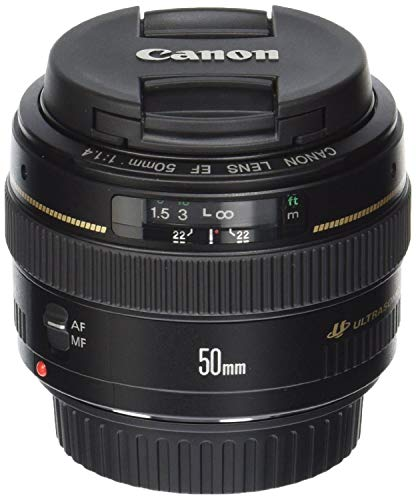 Canon EF 50mm f/1.4 USM Standard & Medium Telephoto Lens for Canon SLR Cameras -...