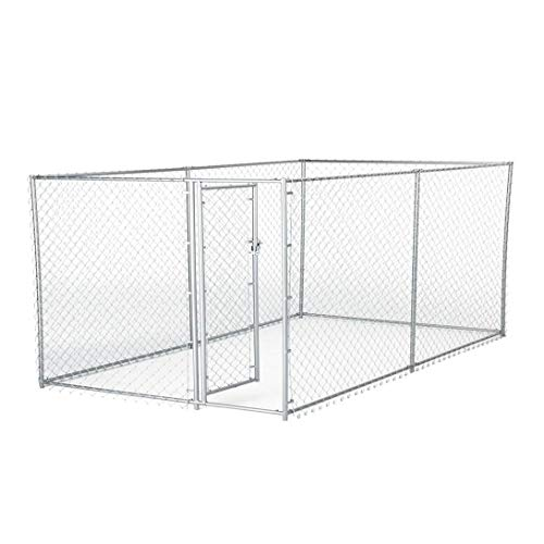 Lucky Dog Galvanized Chain Link Kennel (10' x 5' x '4)
