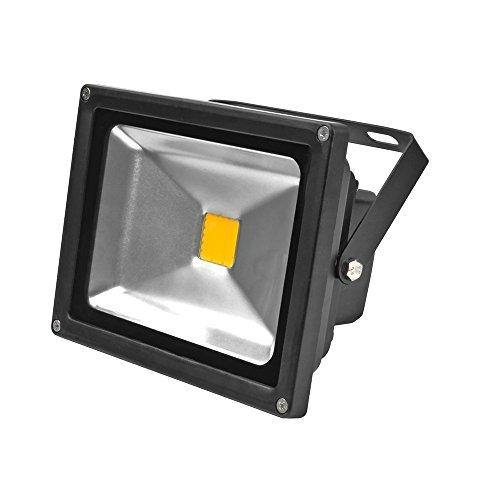 Greenmigo 20W Fluter Warmeiß Schwarz Aluminium Gehäuse IP65 Wasserdicht LED Scheinwerfer Wandleuchter Flulicht Flutbeleuchtung LED Gartenlampe Außenstahler