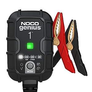 NOCO GENIUS1EU, Inteligente automático de 1A, Cargador 6V y 12V, mantenedor desulfatador de batería con compensación de…