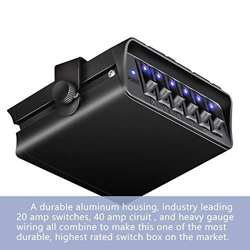 Camisin Caja de Interruptores de 12-24 V, Luz EstroboscóPica de Emergencia Basculante, Panel de Controlador de Palanca de 6 Bandas, 80A para Luces de Coche, Barco Marino, CamióN