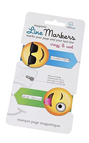 Line Markers Crazy&Cool - Magnetische Lesezeichen: 2er Set Motiv Emoji