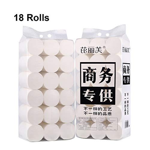 Bxwjg 4 lagen papier Handdoeken, Dikte/Zacht/Niet irriterend/Handig/Praktisch/Draagbaar, 150g/Per Roll, Geschikt voor thuis of op kantoor