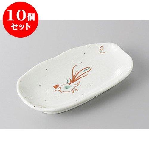 5個セット 小皿 赤絵鳥楕円串皿 [16.8 x 9.7 x 2.8cm] 【料亭 旅館 和食器 飲食店 業務用 器 食器】
