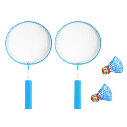 Toyvian Raquete de tênis infantil para crianças, raquetes ovais, badminton, adereços de jogo para escola primária e esportes ao ar livre, 4 peças