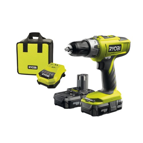 Ryobi LLCDI18022 ONE+ 18V Cordless Percussion Drill/Driver with 2x 1.3Ah Batteries and Charger