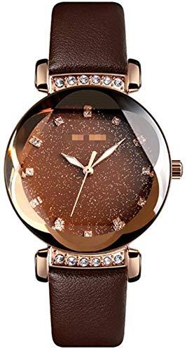 CMXUHUI Chica Reloj Regalo de cumpleaños Regalo del día de Moda Mujeres Relojes Cuarzo Ladies Reloj Correa de Acero Inoxidable Relojes Impermeables