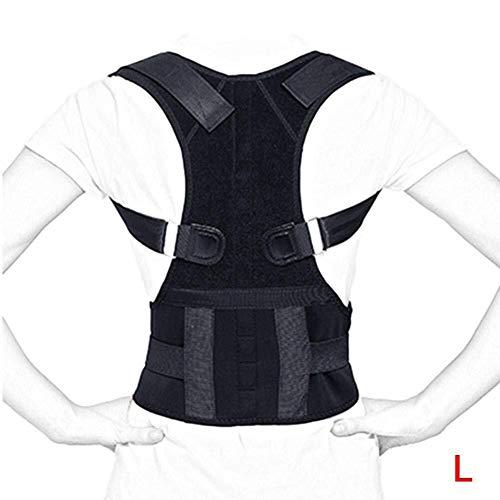 12 Imán Piedra Cinturón magnético Jorobado Sentado hacia atrás Cinturón de Postura Cinturón de Postura (Size : Large)