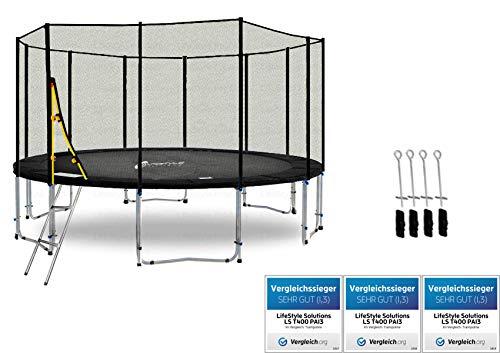 LifeStyle ProAktiv LS-T400-PA13 (Sad) Deluxe Trampolino da Giardino 400cm - incl. Rete di Sicurezza 140g/m² - New