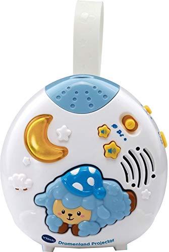 VTech Baby – Dromenland Projector Interactief Speelgoed – Met Kleurrijke Lichtprojectie – Blauw met Wit – Plastic – Voor Jongens en Meisjes – Van 0 tot 36 maanden – Nederlands Gesproken