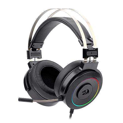Headset Gamer Redragon Lamia RGB Preto USB Com Microfone e Suporte para Headset - H320RGB