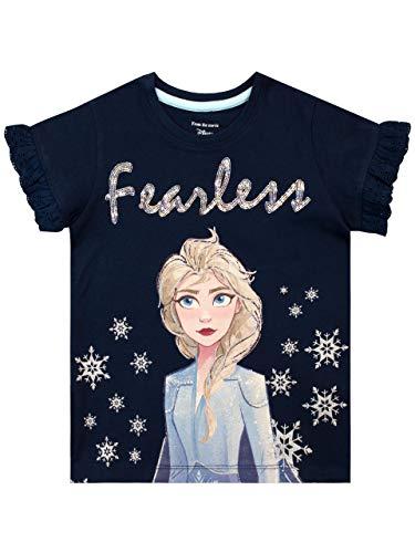 Disney Girls Frozen T-Shirt Elsa Blue Size 7