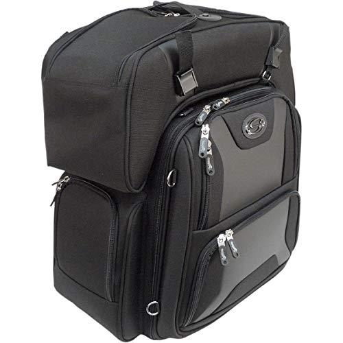 "Saddlemen 3515-0142 Sport Sissy Bar und Combo Bag, schwarz, 20"" W X21 H X11.5 D"