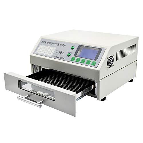 Reflow-Ofen Reflow-Lötmaschine 800W 180 x 235 mm Professionelle Infrarot-Lötmaschine Automatische Reflow-Maschine