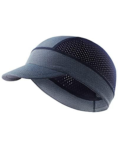 サイクルキャップ メッシュ ヘルメット インナーキャップ 冷感 バイク ツバ付きArcweg 吸汗速乾 通気性抜群 ビーニー メンズ スカルキャップ ライトブルー/ダークブルー
