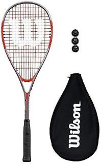 /Équilibre en T/ête WilsonWRT913330  Raquette de Squash Unisexe Tempest Lite Blanc//Bleu//Vert