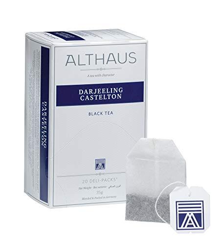 Althaus Deli Pack Darjeeling Castelton 20 x 1,75g ⋅ Schwarzer Tee im klassischen Teeaufgussbeutel