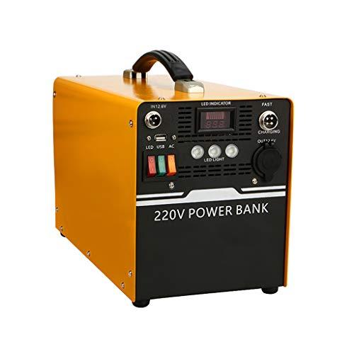 YCX Generador portátil de energía móvil de 220 V, Puerto de Salida del Cargador de CA/USB/automóvil, Soporte para Carga de energía de la Ciudad, Carga de automóvil, Carga Solar, Adecuado para Fiesta