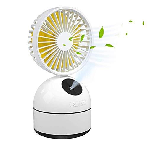 Kylewo USB Ventilator Klein Tischventilator Mini Luftbefeuchter, Cooling Mist Befeuchter Tragbarer Kühlung Tisch Ventilatoren Faltbar Fan für Büro Frau Zuhause Reisen
