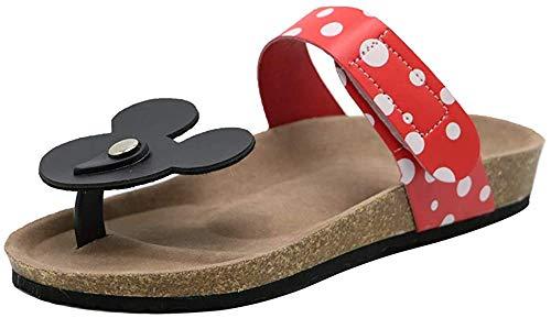 Kaizi Karzi Damen Mode Tanga Sandalen Klettverschluss Zehentrenner Strand Sandalen Red Gr 39 Asiatisch