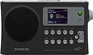 Sangean WFR-28 Internet Radio/FM-RBDS/USB/Network Music Player Digital Receiver with Color Display (Renewed)
