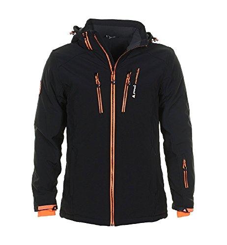 Peak Mountain - Skijacke Mann Canada- schwarz/orange- XL