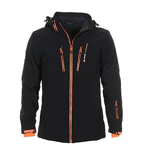 Peak Mountain - Skijacke Mann Canada- schwarz/orange- XL