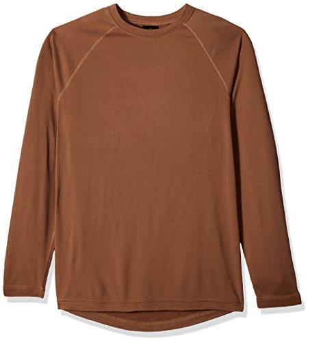 "Terramar Men's Military Fleece Long Sleeve Crew, Military Brown, Large (42""-44"")"