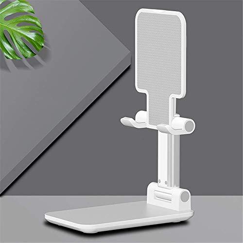 Tableta Ajustable Aleación de Aluminio Teléfono Plano Universal 360 Grado Telescópico Telescópico Metal Metal Soporte Compatible con Varias tabletas (Color: Blanco, Tamaño: Un tamaño) ZDWN