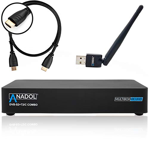 Decoder Anadol Multibox 4K UHD 2160p E2 Linux DVB-S2 Sat & DVB-T2/C Combo