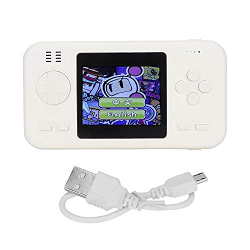 ASHATA 8000mAh kleurendisplay handmatige gameconsole, powerbank, draagbare 416 games ingebouwde lader, mobiele power met twee USB-uitgangen voor onderweg