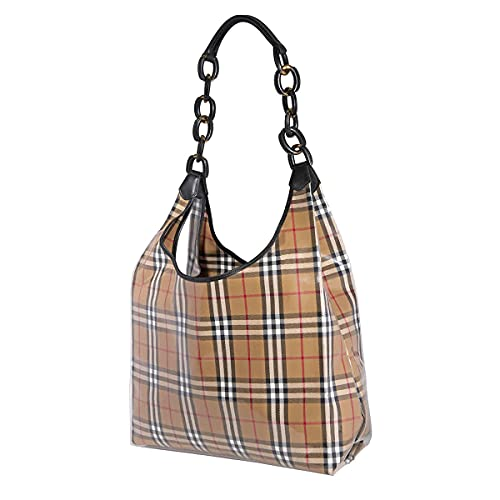 Burberry Antique Yellow/Black Large Vintage Check Hobo