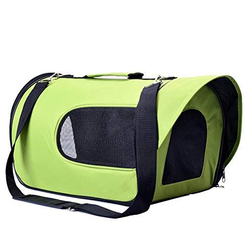Aida Bz Chien Sac à Dos Teddy Pet Bag Sac Portable Chien Sac Chien Cage Chat Sac de Chat Portable Sac,Green,L