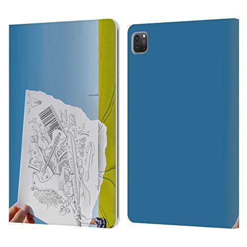 Head Case Designs Licenciado Oficialmente Ben Heine telescopio Lápiz vs cámara Carcasa de Cuero Tipo Libro Compatible con Apple iPad Pro 11 (2020/2021)