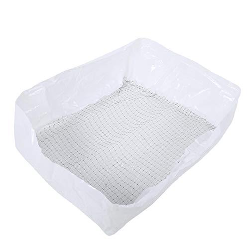 SALUTUYA Bolsa de Arena para Gatos de Nailon de 19.69x11.81 Pulgadas para baño de Gatos(1 Set of 20 Small Mesh Cat Litter Bags)