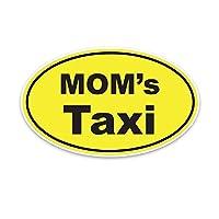 ステッカー 車 15.9 * 9.6cmママのタクシー漫画面白い車の窓ステッカーレトロな反射デカールアクセサリー ステッカー 車