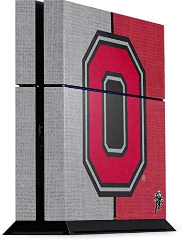 Skinit Decal Gaming Skin for PS4 Console - Officially Licensed Ohio State University OSU Ohio State Buckeyes Split Design