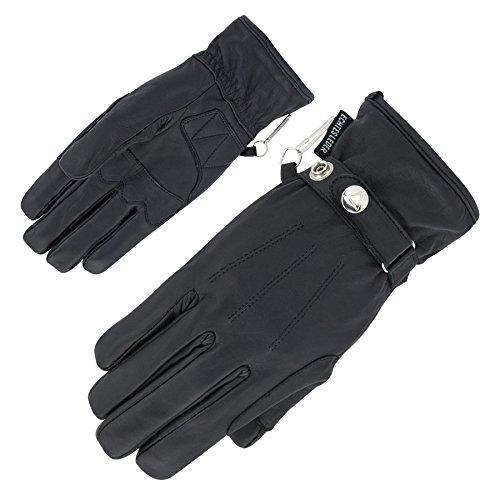 Orina Classic II Elegante, leicht gefütterte Lederhandschuhe, uni Schwarz, Größe 12