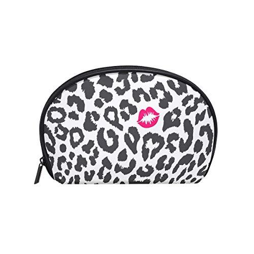 COOSUN Luipaard Textuur Met Kus Print Cosmetische Pouch Koppeling Make-up Bag Travel Organizer Case Toilettas voor Vrouwen