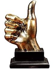 Garneck Handgebaar Sculptuur Duim Omhoog Vinger Standbeeld Hars Hand Vinger Bureau Ornament Decoratieve Tafel Kunst Beeldje
