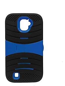 JFXONE New Stand {Shock Absorption} Drop Protection Hybrid Dual Layer Armor Defender Protective Case Cover for ZTE Jasper LTE Z718TL  Black Blue