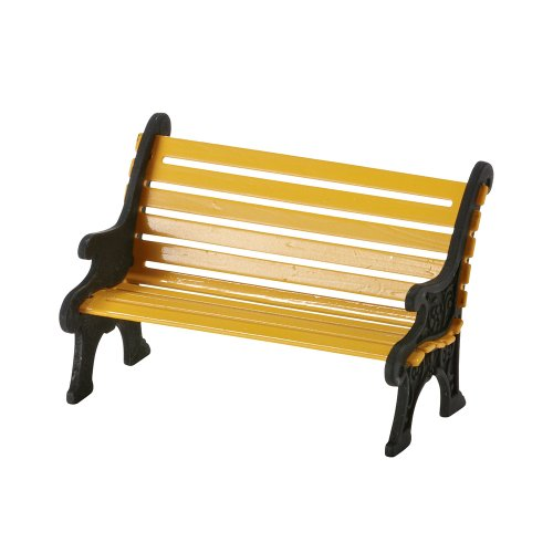 Department 56 Accessories for Villages City Wrought Iron Park Bench Accessory Figurine, 1.57 inch