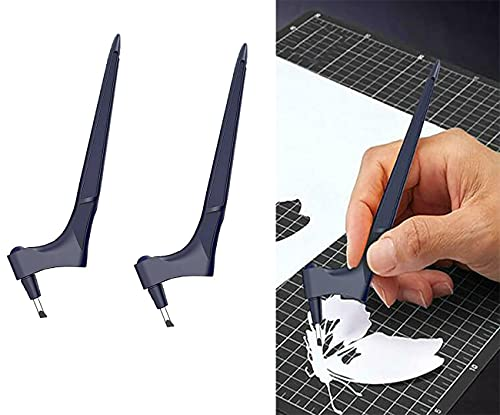 JGHGO Cutting Craft Tool Gyro, 360 Degree Swivel Craft Knife Cutting Tools, Precision Art Knife Cutter, Pen Blade Stainless Steel Craft Knives, for Craft, Hobby, Scrapbooking, Stencil (2PCS)