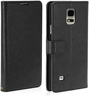 COPHONE® Funda de Cuero Negro Samsung Galaxy Note 4 Funda Funda Protectora Funda Monedero Negro