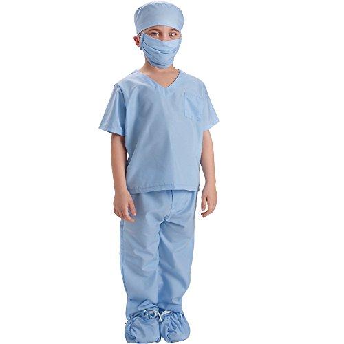 Dress up America Azul Niños médico Scrubs disfraz niños médico Scrub de jugar traje