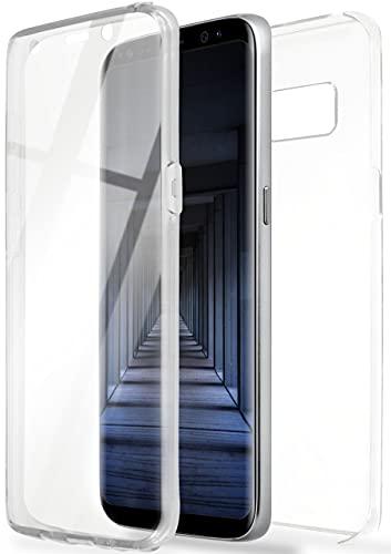ONEFLOW Touch Hülle für Samsung Galaxy S8 Hülle beidseitig stoßfest, Schutzhülle vorne & hinten, 360 Grad Komplettschutz, Handyhülle transparent mit Bildschirmschutz - Klar