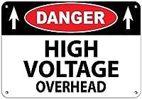 危険高圧オーバーヘッド警告安全標識アルミニウム金属標識