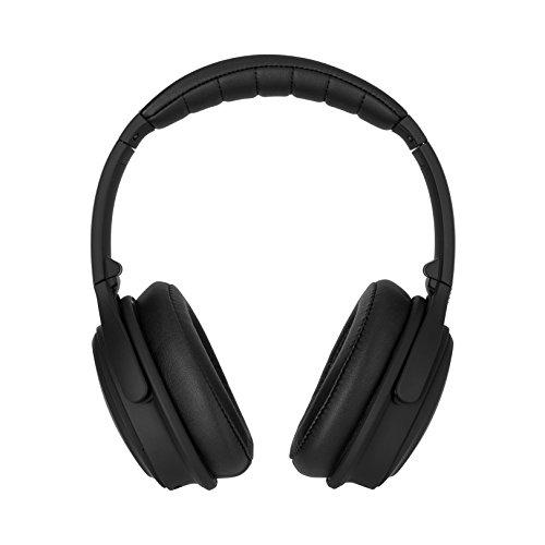Xqisit OE400 Schwarz Ohrumschließend Kopfband - Kopfhörer (Ohrumschließend, Kopfband, Kabellos, 20-20000 Hz, 32 Ohm, Schwarz)