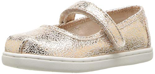TOMS baby girls Mary Jane Flat, Rose Gold, 7 Little Kid US