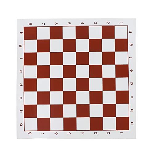 SASAU 34.5x34.5cm / 42x42cm Torneo de Cuero de PVC Tablero de ajedrez para Juegos de Entretenimiento Juegos de Mesa Rojo ( Color : 42x42cm Green )